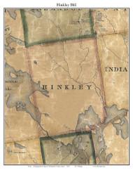 Hinkley, Maine 1861 Old Town Map Custom Print - Washington Co.