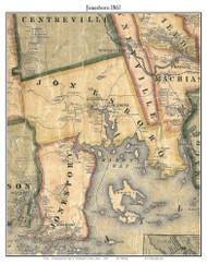 Jonesboro, Maine 1861 Old Town Map Custom Print - Washington Co.