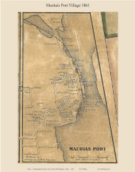 Machias Port Village, Maine 1861 Old Town Map Custom Print - Washington Co.