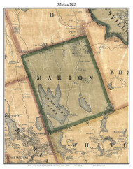 Marion, Maine 1861 Old Town Map Custom Print - Washington Co.
