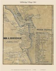 Millbridge Village, Maine 1861 Old Town Map Custom Print - Washington Co.