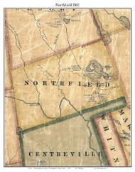 Northfield, Maine 1861 Old Town Map Custom Print - Washington Co.