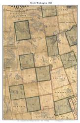 North Washington Co, Maine 1861 Old Town Map Custom Print - Washington Co.