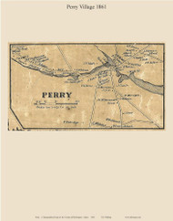 Perry Village, Maine 1861 Old Town Map Custom Print - Washington Co.