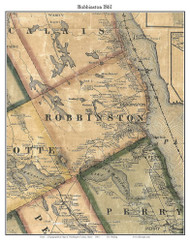Robbinston, Maine 1861 Old Town Map Custom Print - Washington Co.