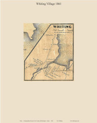Whiting Village, Maine 1861 Old Town Map Custom Print - Washington Co.