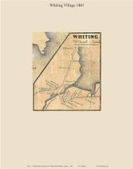Whiting Village, Maine 1861 Old Town Map Custom Print - Washington Co.