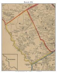 Berwick, Maine 1856 Old Town Map Custom Print - York Co.