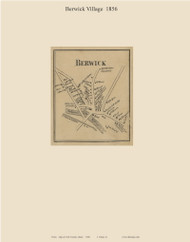 Berwick Village, Maine 1856 Old Town Map Custom Print - York Co.