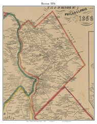 Buxton, Maine 1856 Old Town Map Custom Print - York Co.