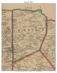Cornish, Maine 1856 Old Town Map Custom Print - York Co.