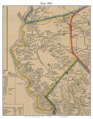 Eliot, Maine 1856 Old Town Map Custom Print - York Co.