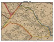 Kennebunk, Maine 1856 Old Town Map Custom Print - York Co.