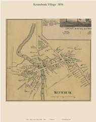 Kennebunk Village, Maine 1856 Old Town Map Custom Print - York Co.