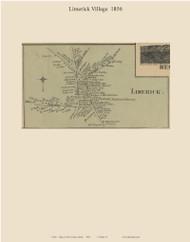 Limerick Village, Maine 1856 Old Town Map Custom Print - York Co.