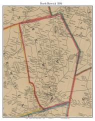 North Berwick, Maine 1856 Old Town Map Custom Print - York Co.