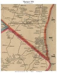 Ogunquit, Maine 1856 Old Town Map Custom Print - Enlarged Excerpt - York Co.