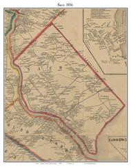 Saco, Maine 1856 Old Town Map Custom Print - York Co.