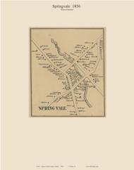 Springvale, Maine 1856 Old Town Map Custom Print - York Co.
