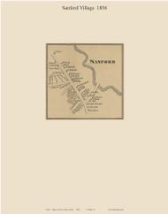 Sanford Village, Maine 1856 Old Town Map Custom Print - York Co.