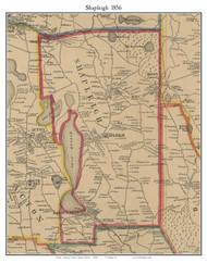 Shapleigh, Maine 1856 Old Town Map Custom Print - York Co.