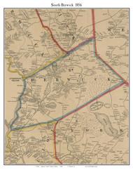 South Berwick, Maine 1856 Old Town Map Custom Print - York Co.