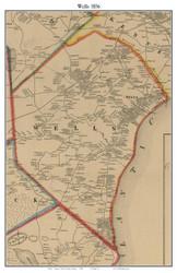 Wells, Maine 1856 Old Town Map Custom Print - York Co.