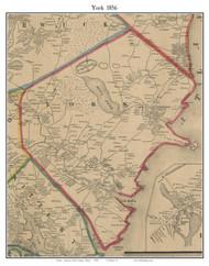 York, Maine 1856 Old Town Map Custom Print - York Co.