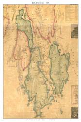 Bath & Environs, Maine 1858 Old Town Map Custom Print - Sagadahoc Co.