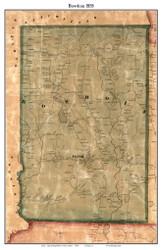 Bowdoin, Maine 1858 Old Town Map Custom Print - Sagadahoc Co.