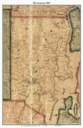 Bowdoinham, Maine 1858 Old Town Map Custom Print - Sagadahoc Co.