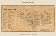 Bowdoinham Village, Maine 1858 Old Town Map Custom Print - Sagadahoc Co.