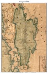 Georgetown, Maine 1858 Old Town Map Custom Print - Sagadahoc Co.