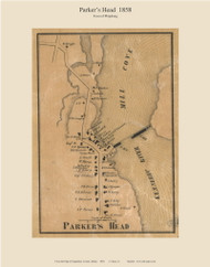Parker's Head, Maine 1858 Old Town Map Custom Print - Sagadahoc Co.