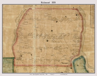 Richmond, Maine 1858 Old Town Map Custom Print - Sagadahoc Co.