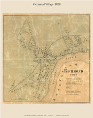 Richmond Village, Maine 1858 Old Town Map Custom Print - Sagadahoc Co.
