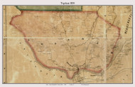 Topsham, Maine 1858 Old Town Map Custom Print - Sagadahoc Co.