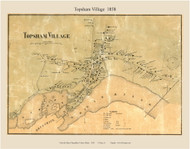 Topsham Village, Maine 1858 Old Town Map Custom Print - Sagadahoc Co.