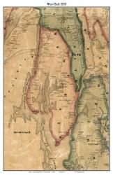West Bath, Maine 1858 Old Town Map Custom Print - Sagadahoc Co.
