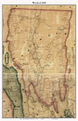 Woolwich, Maine 1858 Old Town Map Custom Print - Sagadahoc Co.