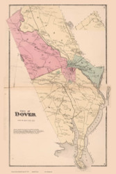 City of Dover, New Hampshire 1871 Old Town Map Reprint - Strafford Co.