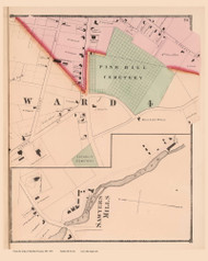City of Dover - Ward 4, New Hampshire 1871 Old Town Map Reprint - Strafford Co.