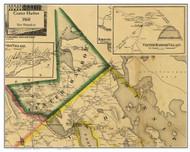 Center Harbor, New Hampshire 1860 Old Town Map Custom Print - Belknap Co.