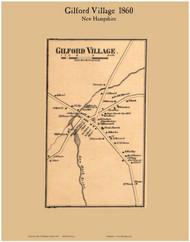 Gilford Village, New Hampshire 1860 Old Town Map Custom Print - Belknap Co.