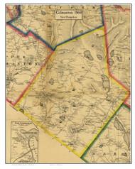 Gilmanton, New Hampshire 1860 Old Town Map Custom Print - Belknap Co.