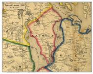 Laconia, New Hampshire 1860 Old Town Map Custom Print - Belknap Co.