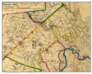 Meredith, New Hampshire 1860 Old Town Map Custom Print - Belknap Co.