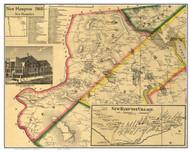 New Hampton, New Hampshire 1860 Old Town Map Custom Print - Belknap Co.