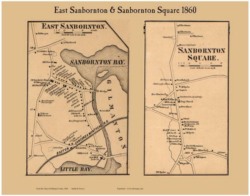 East Sanbornton and Sanbornton Square Villages, New Hampshire 1860 on lake winnipesaukee nh map, new london nh map, gilford nh map, hooksett nh map, nh fish and game map, tuftonboro nh map, ossipee nh map, nashua nh map, dracut nh map, north ashland nh map, goffstown nh map, belmont nh map, tilton nh map, brattleboro nh map, contoocook nh map, laconia nh map, winnisquam lake nh map, half moon lake nh map, gilmanton nh town map, swanzey nh map,