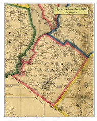 Upper Gilmanton, New Hampshire 1860 Old Town Map Custom Print - Belknap Co.